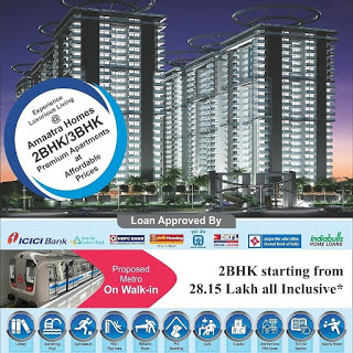 Ready to Move in flats#@ +91-9958658585 #@Amaatra Homes 28Lacs